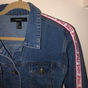 TRUE LOVE - denim jacket - only worn once